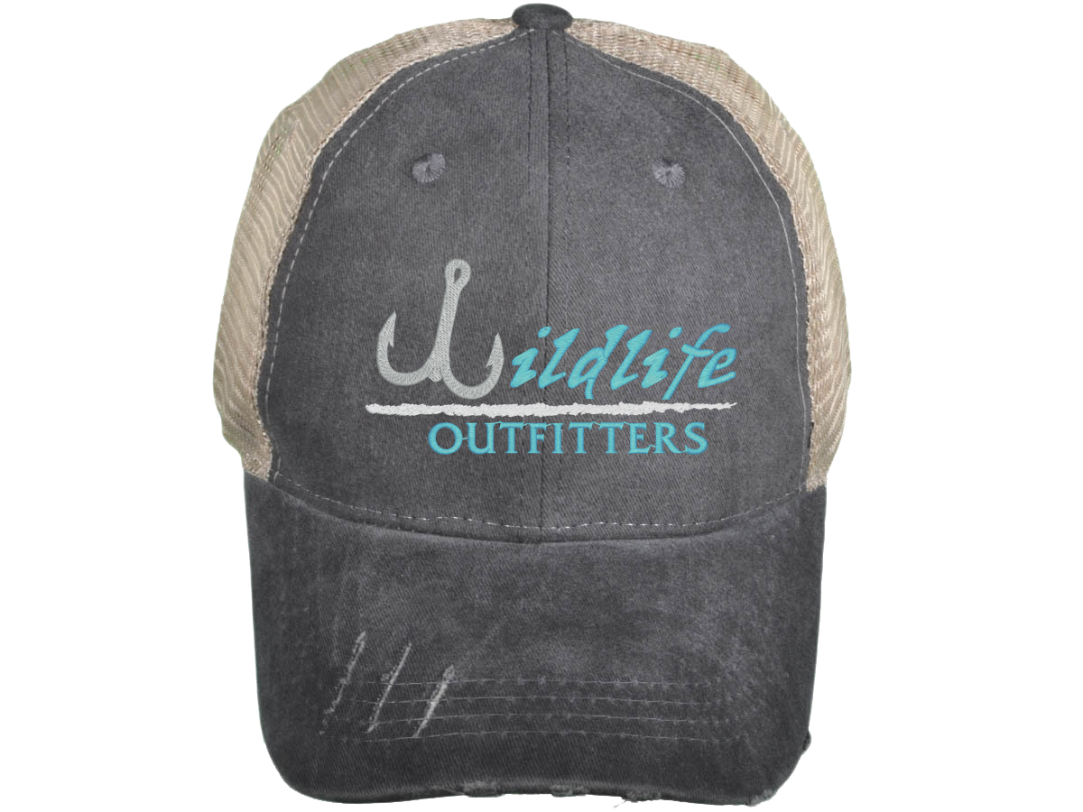 680fe578 Distressed Trucker Hat ~ Neon Blue. $24.00. Distressed; Low Profile Pigment-Dyed  Cotton Mesh ...